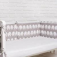"""Бортик  в кроватку для новорожденного """"Слоники"""" Еlfdreams"""