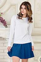 Женская джинсовая мини юбка полусолнце