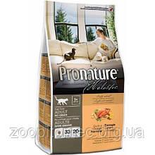 Сухой корм для котов Pronature Holistic (Пронатюр Холистик) с уткой и апельсинами Без Злаков, 5,44 кг