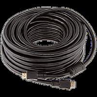 Кабель LogicPower HDMI-HDMI 15.0м, Ver 1.4 for 3D, доп. оплетка