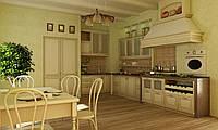 Кухня RODA РОМА: изготовлена из массива ольхи с использованием эффекта выбеливания