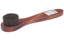 Щетка с ручкой для обуви, дерево клен, конский волос, арт. sk-172-40-30