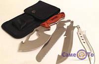 Многофункциональный нож туристический Егерь 4 в 1 - 6000762 - туристический набор, нож походный, туристический нож, нож с насадками, походный набор,