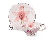 """Фарфоровый чайный набор на 6 персон """"Орхидея"""" Lefard 264-090"""