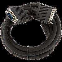 Кабель LogicPower VGA -2.0BK, 2.0м черный, с двумя ферритовыми кольцами