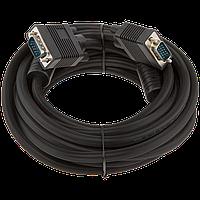 Кабель LogicPower VGA -5.0BK, 5.0м черный, с двумя ферритовыми кольцами