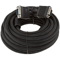 Кабель  VGA -10.0BK, 10.0м черный, с двумя ферритовыми кольцами