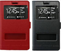 Кожаный чехол книжка с окошком для Samsung G935F Galaxy S7 Edge (2 цвета)