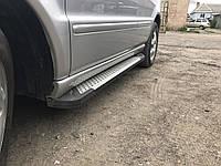 Mercedes ML klass W163 Боковые площадки Allmond (2 шт., алюминий)
