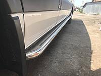 Volkswagen Crafter 2006+ и 2011+ гг. Боковые площадки Premium (2 шт., нерж.) d51, Long/ExtraLong