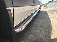 Volkswagen Crafter 2006+ и 2011+ гг. Боковые площадки Premium (2 шт., нерж.) d42, Long/ExtraLong