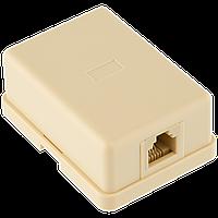 Розетка Logicpower (LP-112) 1-порт. RJ-45, кат.5e UTP.