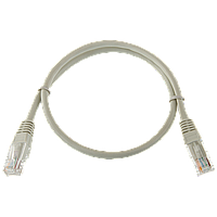 Патч-корд литой Logicpower UTP, RJ45, кат. 5Е, 0,5 m.