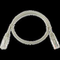 Патч-корд литой  UTP, RJ45, кат. 5Е, 0,5 m (серый)
