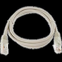 Патч-корд литой Logicpower UTP, RJ45, кат. 5Е, 1 m (серый)