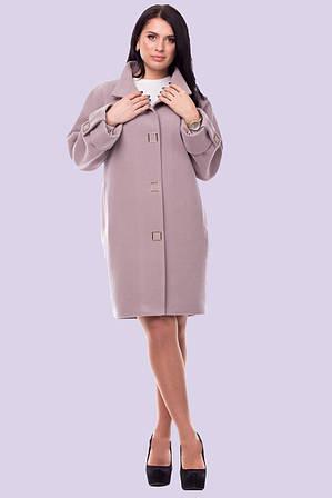 Стильное очаровательно-женственное пальто  свободного непринужденного покроя