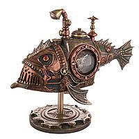 """Статуэтка Veronese в стиле стимпанк """"Механическая рыба"""" 18 см"""