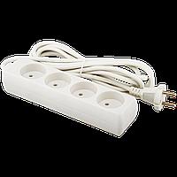 Удлинитель сетевой LogicPower LP-WX4, 4 розетки, цвет-белый, 3,0 m