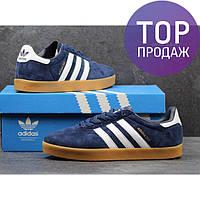 Мужские кроссовки ADIDAS 350, замшевые, темно синие / кроссовки для бега мужские АДИДАС 350, удобные