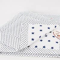 """Комплект стеганный   в кроватку для новорожденного """"Звёздное небо"""" Еlfdreams"""