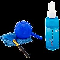 Набор чистящий LF-CL145, 4 в 1, спрей 100ML, антистатическая кисточка, микрофибра, груша для выдува пыли.