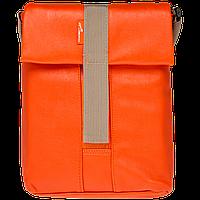 "Плечевая сумка для планшета/нетбука  до 12"" кожза PU, оранжевый"