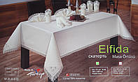 Скатерть и салфетки декорированы бисером Elfida Homestory