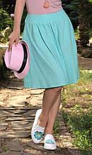 Льняная ментоловая юбка