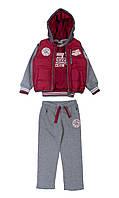 Утепленный спортивный костюм красный