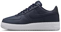 """Мужские кроссовки NikeLab Air Force 1 Low """"Obsidian/White"""" (Найк Аир Форс низкие) темно-синие"""