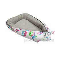 Кокон для новонародженних Kidigo Совы-горох KN-2
