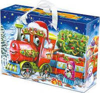 Новогодний сладкий подарок в картонной упаковке №24 1200 г