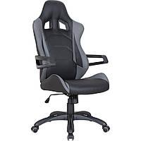 Кресло Vulcan черный, PU черный/серый