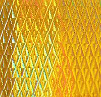 Самоклейка, Hongda, 45 cm Пленка самоклеящая, золото, голограмма