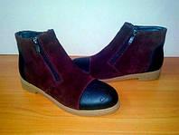 Женские кожаные ботинки низкий ход Chanel (разный цвета)