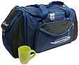 Спортивная сумка Wallaby 475-1 с расширением, 61 л, синий с черным, фото 4