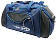 Спортивная сумка Wallaby 475-1 с расширением, 61 л, синий с черным, фото 3