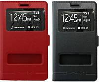 Кожаный чехол книжка с окошком для Samsung GT- I8552 Galaxy Win Duos (2 цвета)
