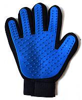 Перчатка щетка для вычесывания шерсти домашних животных True Touch