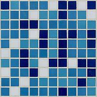 Мозаика для бассейна голубая с синим глянцевая D-Core DC-08