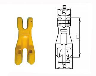Крюк-ограничитель с вилочным сопряжением типа SL 73 1.12 тн