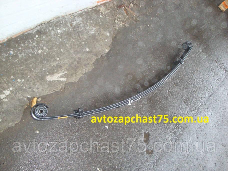 Рессора Газель, Газ 3302 передняя, 4-х листовая, усиленная, 1585 мм, с сайлентблоками (ЧМЗ, Россия)