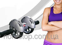 ТОП ВИБІР! Тренажер колесо купить, гимнастический ролик, ролик для пресса, колесо для фитнеса, колесо для пресса, тренажер колесо купити, гімнастичний, фото 1