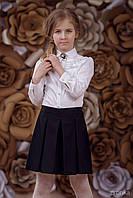Юбка-шорты для девочки, черный (р.140)