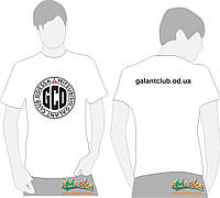 Футболка Galant (большое лого) белая