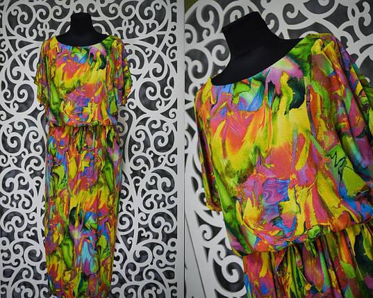 """Яркое а главное удобное женское платье с напуском """"легкий штапель"""" 56, 58 размер батал, фото 2"""