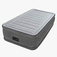 Односпальная кровать матрас INTEX 64412 со встроенным насосом 191*99*46 см