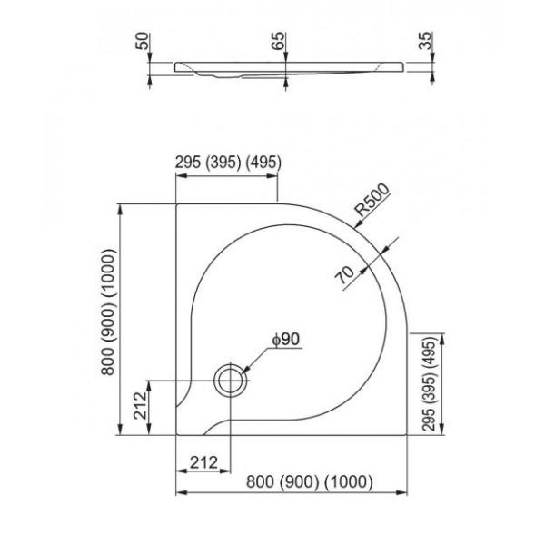 aquaform Душевой поддон Aquaform Delta 80x80 см 200-06901