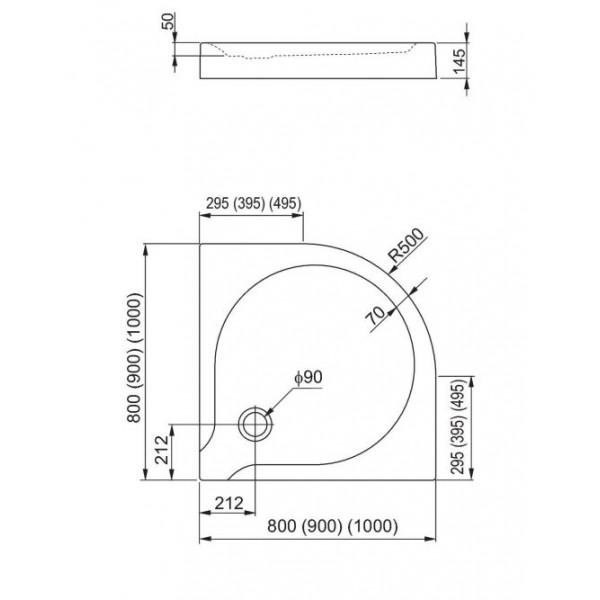 aquaform Душевой поддон Aquaform Delta 80x80 см 200-06904