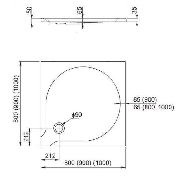 aquaform Душевой поддон Aquaform Delta 100x100 см 201-06909